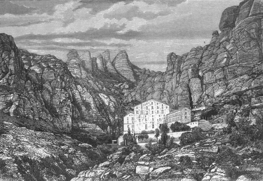 Associate Product SPAIN. Monserrat, Catalonia(Catalunya) c1885 old antique vintage print picture
