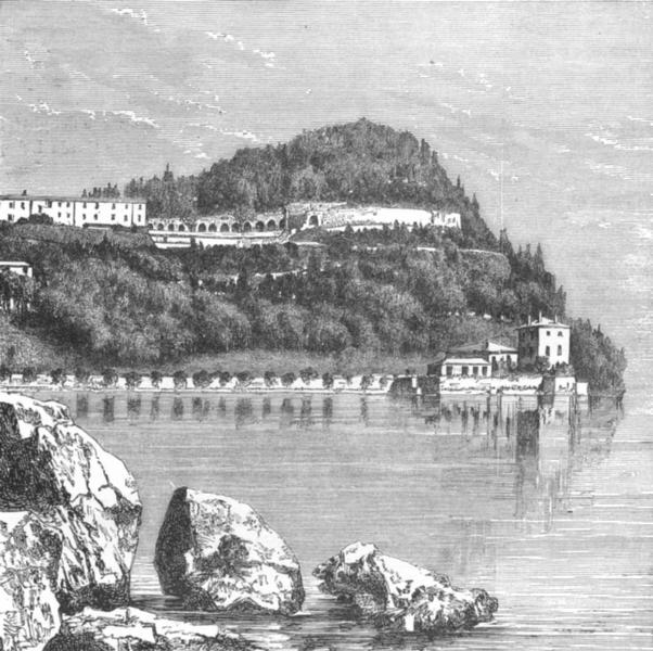 Associate Product COMO. Villa Serbelloni, Peninsula Bellagio, lake c1885 old antique print