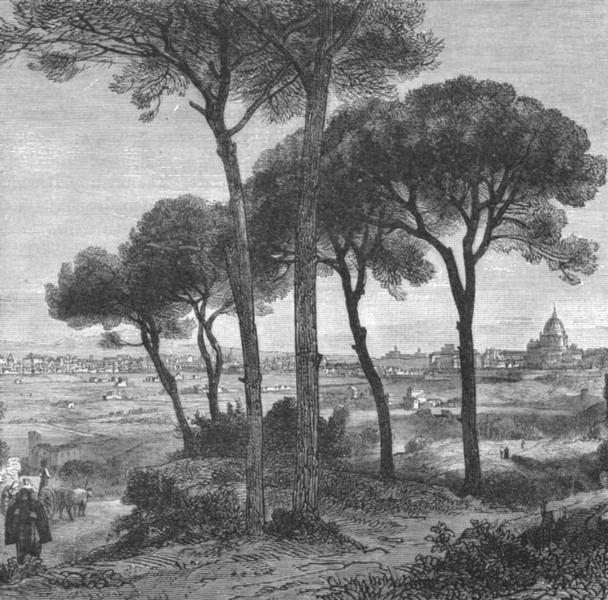 Associate Product ROME. Roma c1885 old antique vintage print picture