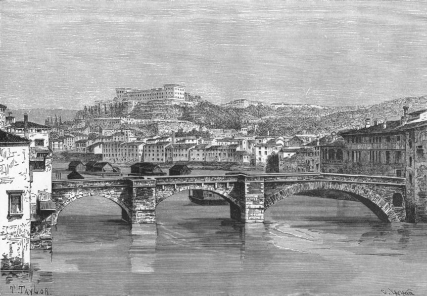 Associate Product ITALY. Verona c1885 old antique vintage print picture