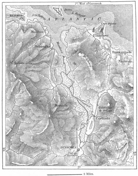 Associate Product SPAIN. Guernica, sketch map c1885 old antique vintage plan chart