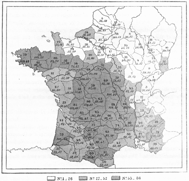 Associate Product FRANCE. Height of Frenchmen, Broca, sketch map c1885 old antique chart