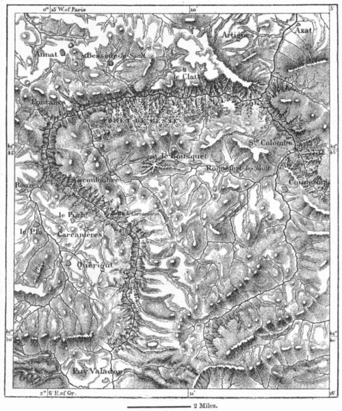 Associate Product FRANCE. Defiles of Aude, sketch map c1885 old antique vintage plan chart