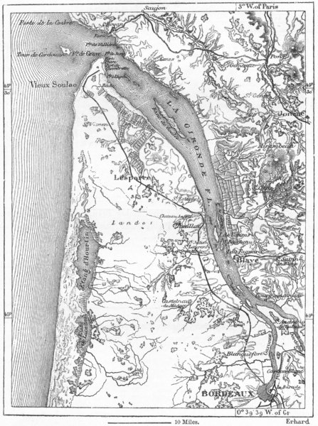 Associate Product FRANCE. Estuary of Gironde, sketch map c1885 old antique plan chart