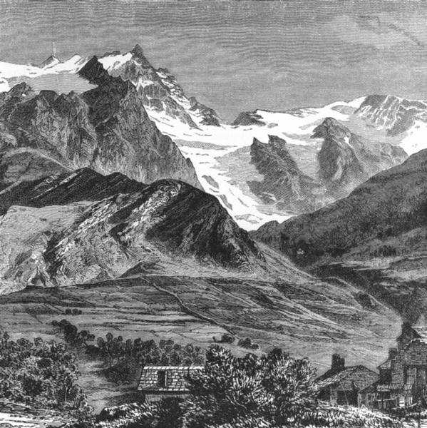 Associate Product FRANCE. Glacier of Grave c1885 old antique vintage print picture