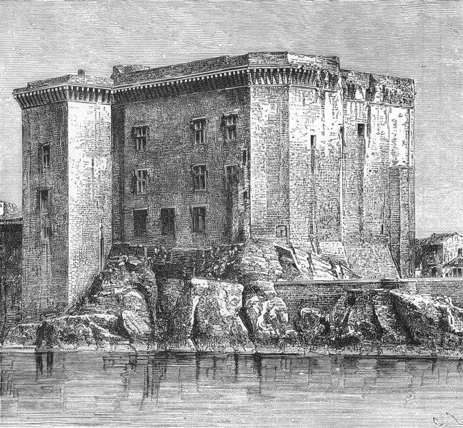 Associate Product FRANCE. King Rene's Castle at Tarascon c1885 old antique vintage print picture