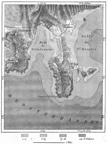 Associate Product FRANCE. Villefranche, sketch map c1885 old antique vintage plan chart