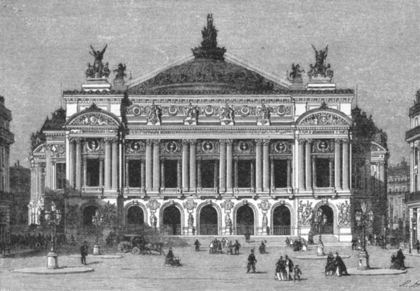 Associate Product FRANCE. Opera House c1885 old antique vintage print picture