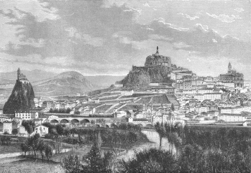 Associate Product FRANCE. Le Puy-en-Velay c1885 old antique vintage print picture