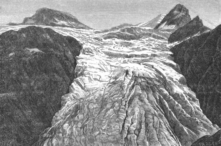 Associate Product SWITZERLAND. Glacier of Blumlisalp c1885 old antique vintage print picture