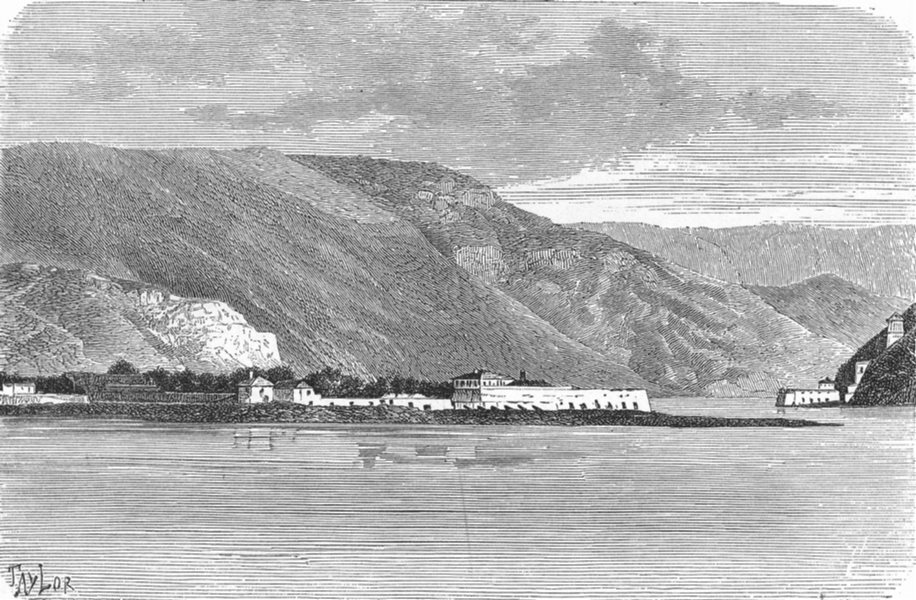 Associate Product HUNGARY. Fort Elizabeth(3 miles Iron Gate) c1885 old antique print picture