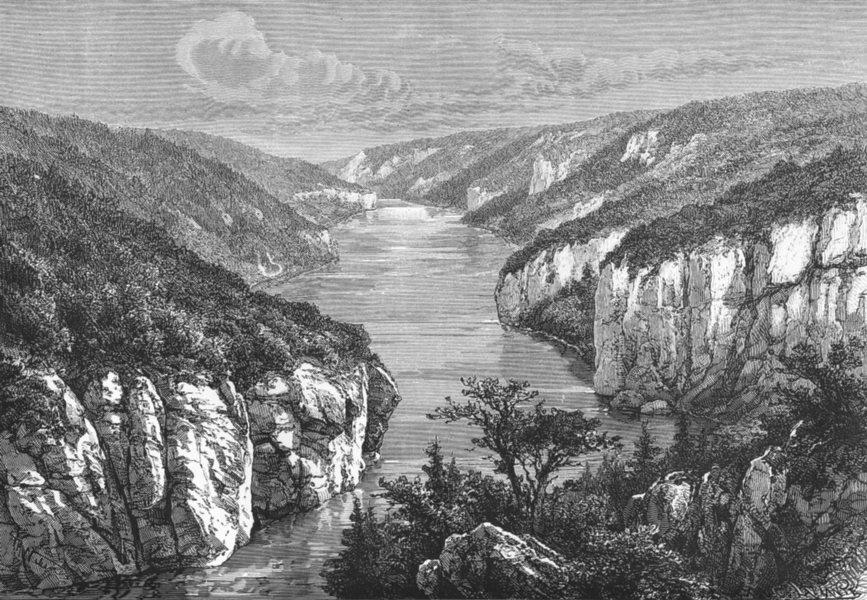 Associate Product GERMANY. Danube between Weltenburg & Kelheim c1885 old antique print picture