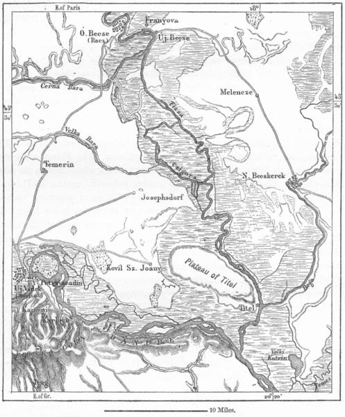 Associate Product HUNGARY. Novisad(Neusatz, Uj-Videk)sketch map c1885 old antique plan chart