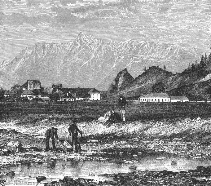 Associate Product HUNGARY. Sohlergrund, plain Zolyom, mining district c1885 old antique print