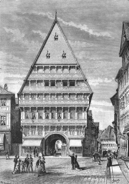 Associate Product GERMANY. Brewers House at Hildesheim c1885 old antique vintage print picture