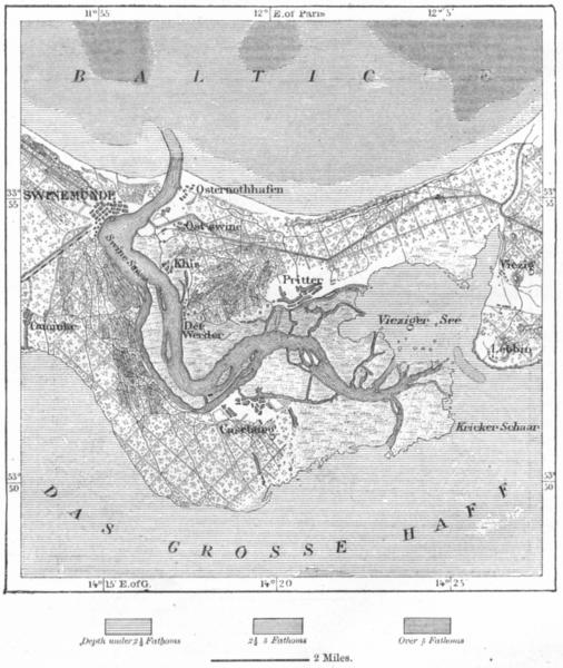 Associate Product POLAND. Swinoujscie, sketch map c1885 old antique vintage plan chart