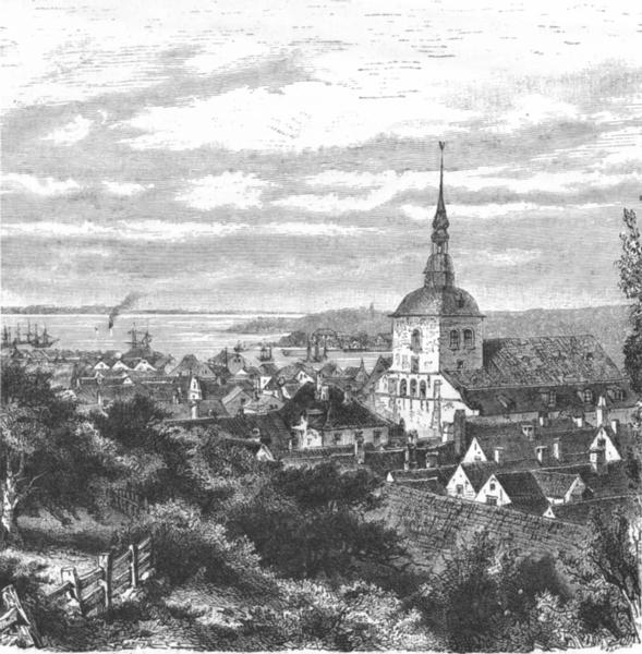 Associate Product GERMANY. Flensburg c1885 old antique vintage print picture