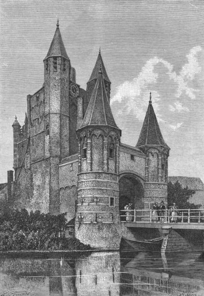 Associate Product NETHERLANDS. Haarlem. Amsterdam Gate c1885 old antique vintage print picture