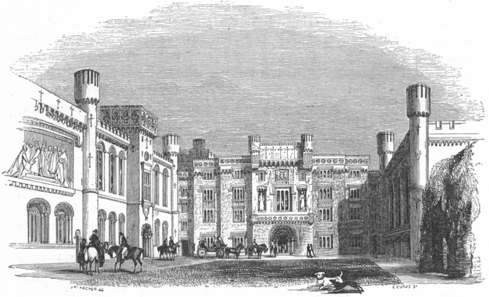 Associate Product SUSSEX. Arundel Castle. Quad c1885 old antique vintage print picture