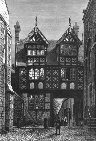 Associate Product SHROPS. Shrewsbury House 16th century c1885 old antique vintage print picture
