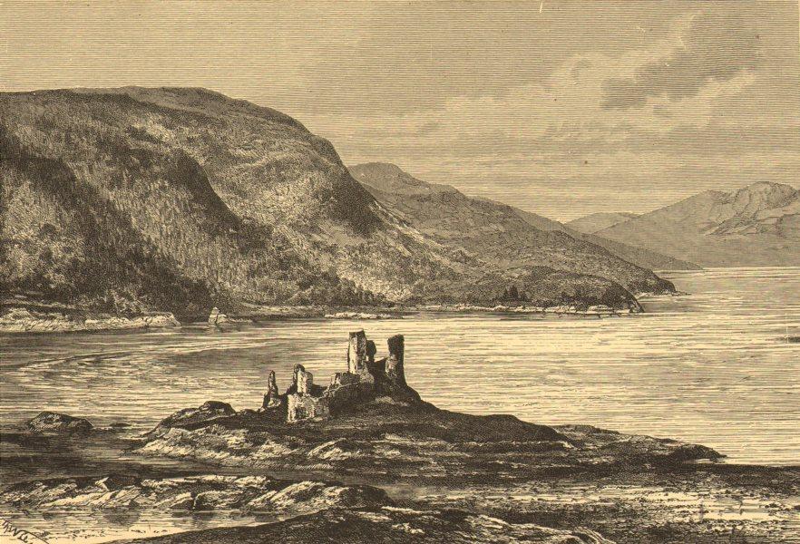 Associate Product SCOTLAND. Eilan Donan Castle-Loch Alsh & Duich c1885 old antique print picture