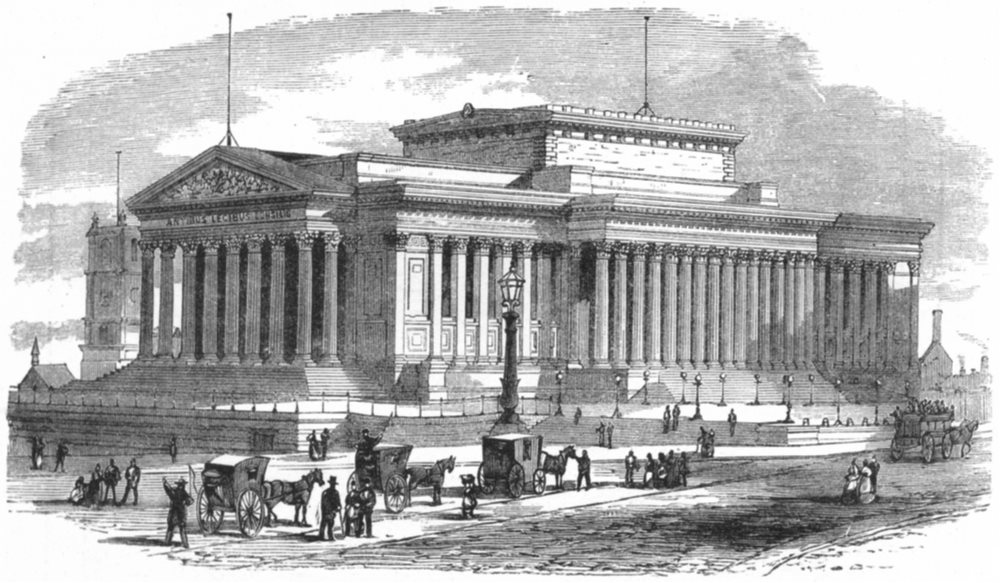 Associate Product LIVERPOOL. St George's Hall c1885 old antique vintage print picture