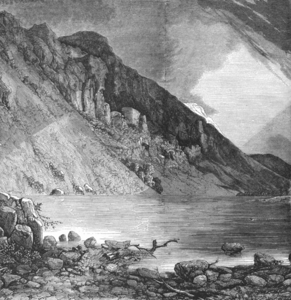 Associate Product CUMBS. Screes at Wastwater, Cumbria c1885 old antique vintage print picture