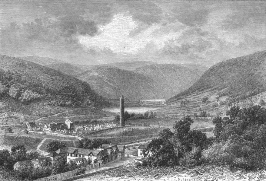 Associate Product IRELAND. Vale of Glendalough c1885 old antique vintage print picture