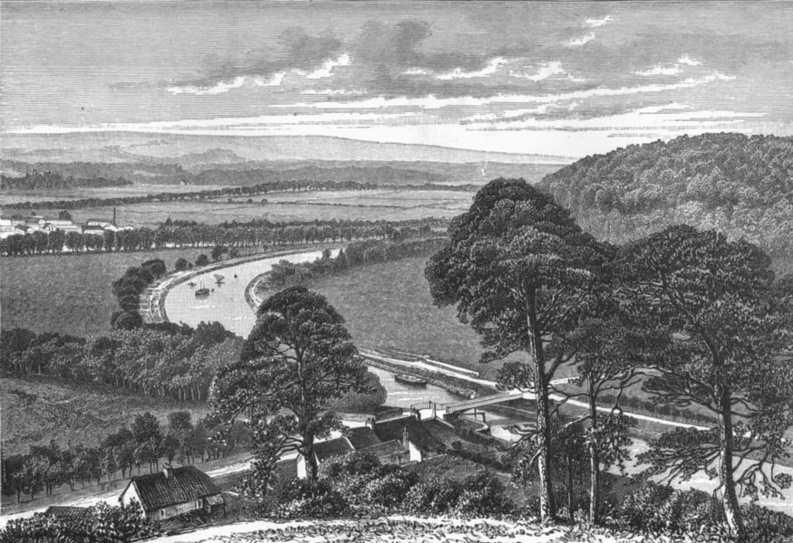 Associate Product SCOTLAND. Caledonian Canal c1885 old antique vintage print picture