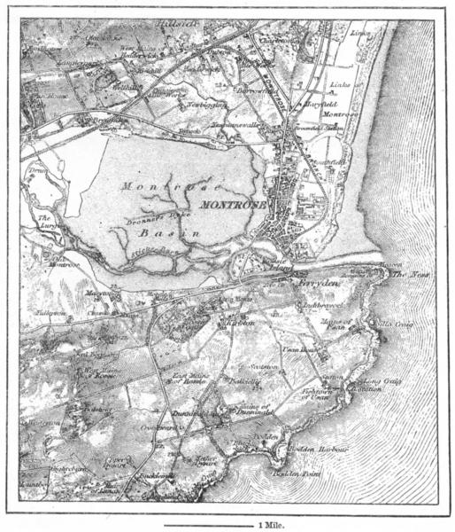 Associate Product SCOTLAND. Montrose, sketch map c1885 old antique vintage plan chart