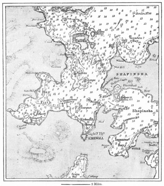 Associate Product SCOTLAND. Kirkwall, sketch map c1885 old antique vintage plan chart