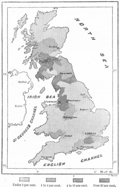 Associate Product IRELAND. Irish Gt Britain Ravenstein, sketch map c1885 old antique chart