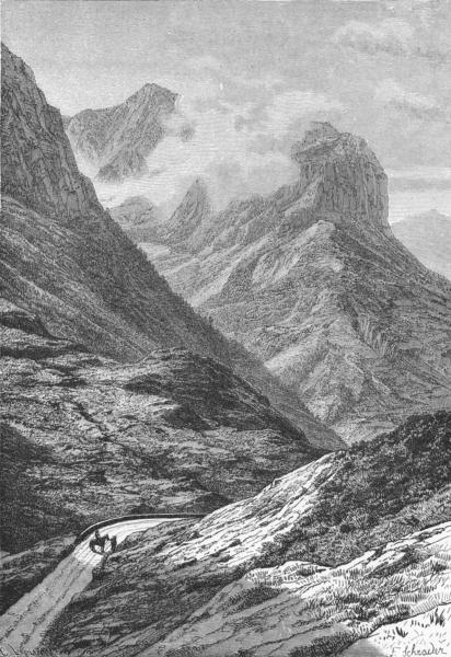 Associate Product SCOTLAND. Pass of Glencoe c1885 old antique vintage print picture