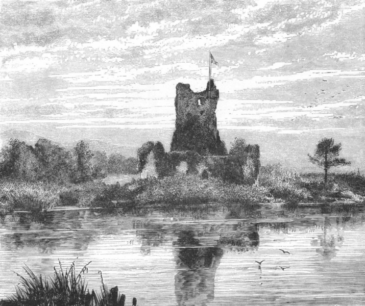 Associate Product IRELAND. Lakes of Killarney. Ross Castle c1885 old antique print picture