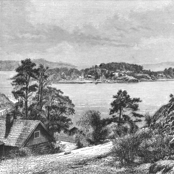 Associate Product NORWAY. Islands, Gulf of Oslo c1885 old antique vintage print picture