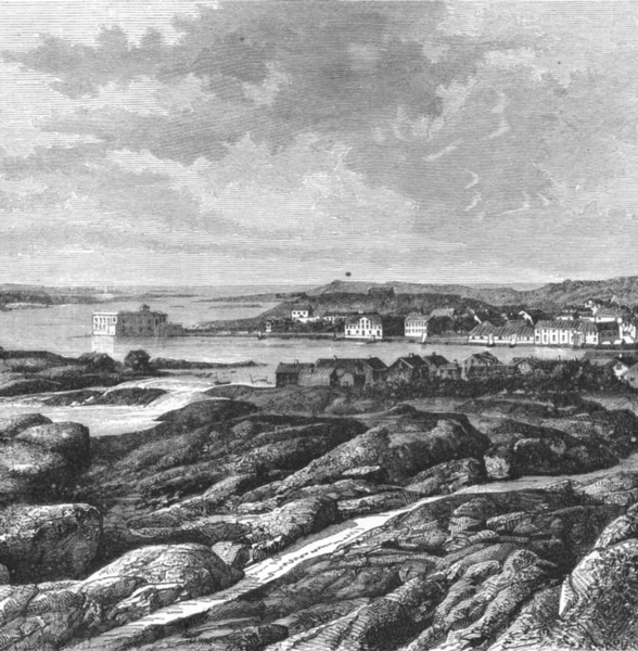 Associate Product NORWAY. Oscarsborg. View from Koon c1885 old antique vintage print picture