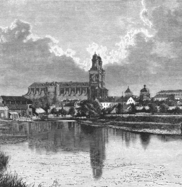 Associate Product SWEDEN. Cathedral of Uppsala c1885 old antique vintage print picture