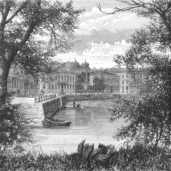 Associate Product SWEDEN. Gothenburg Goteborg. Botanic garden c1885 old antique print picture