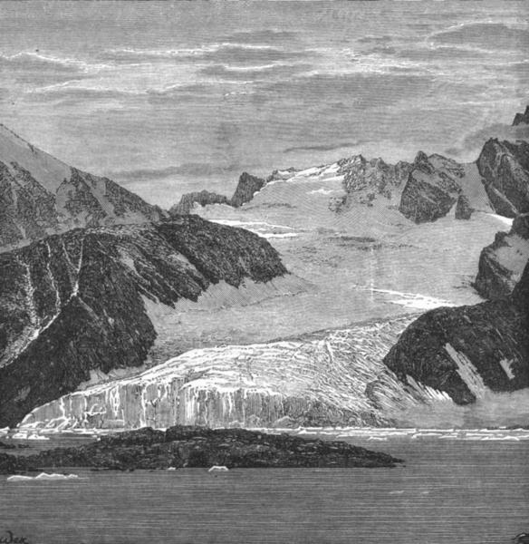 Associate Product NORWAY. Foul Bay, Spitsbergen c1885 old antique vintage print picture