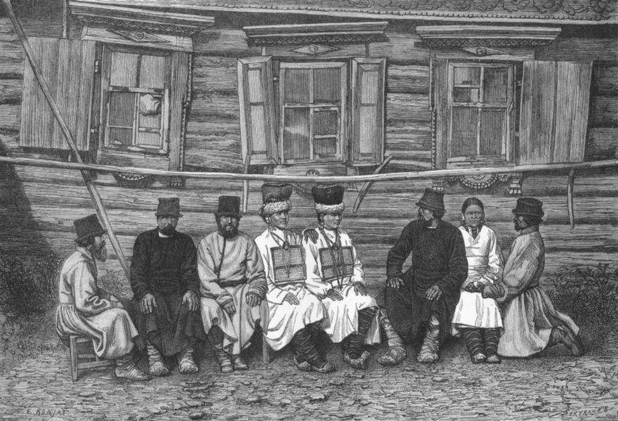 Associate Product RUSSIA. Cheremissians of Govt Ulyanovsk c1885 old antique print picture