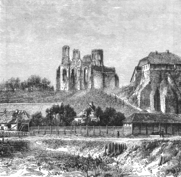 Associate Product RUSSIA. Ruins, Castle of Ostrog c1885 old antique vintage print picture