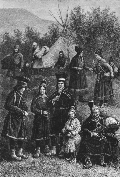 Associate Product FINLAND. Types & Costumes in Lapland c1885 old antique vintage print picture