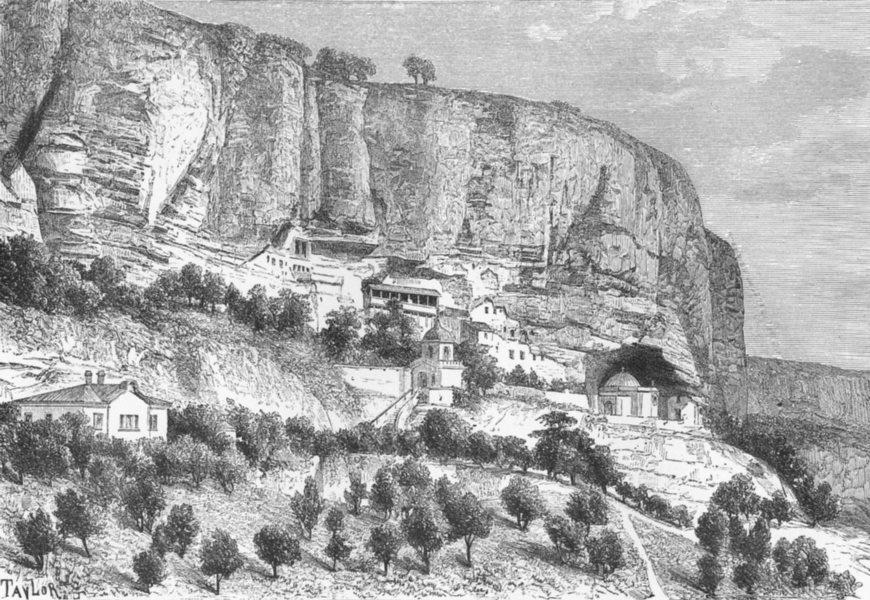 Associate Product UKRAINE. Grottoes of Djoufout-Kaleh c1885 old antique vintage print picture