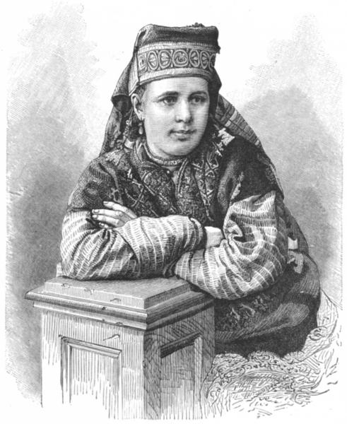 Associate Product NIZHNY NOVGOROD. Russian Type. Ardatov District c1885 old antique print
