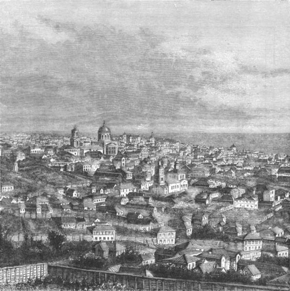 Associate Product UKRAINE. Voronezh c1885 old antique vintage print picture