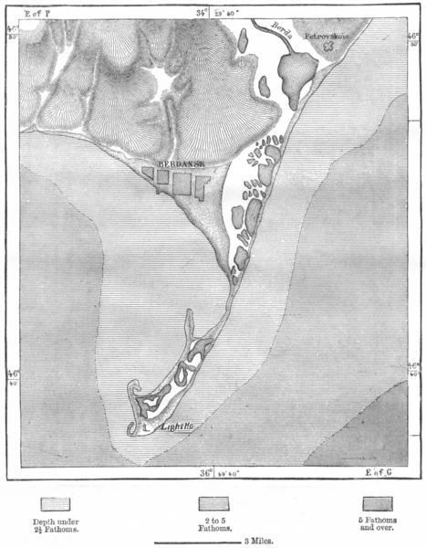 Associate Product UKRAINE. Berdyansk Peninsula & town, sketch map c1885 old antique chart