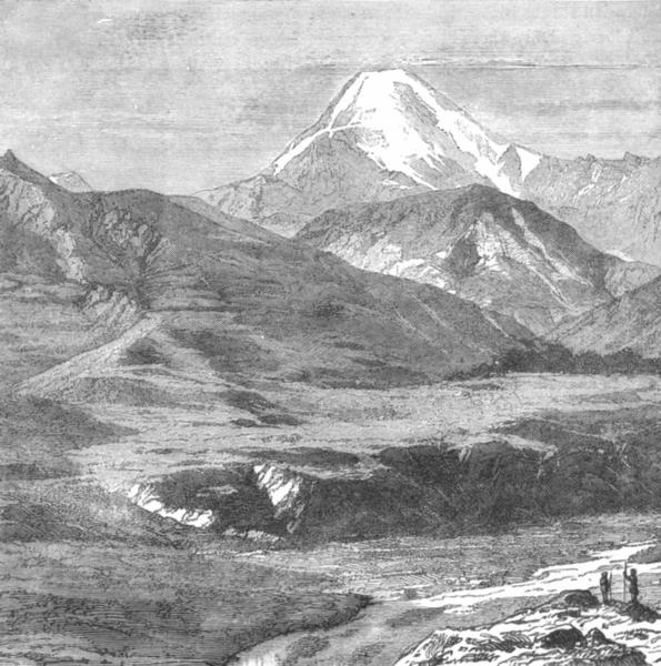 Associate Product GEORGIA. Kazbek. View Station c1885 old antique vintage print picture