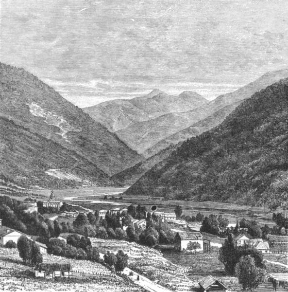 Associate Product GEORGIA. Passanaur, Tblisi-Vladikavkaz route c1885 old antique print picture