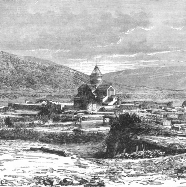 Associate Product GEORGIA. Mtzkhet, ancient capital of c1885 old antique vintage print picture