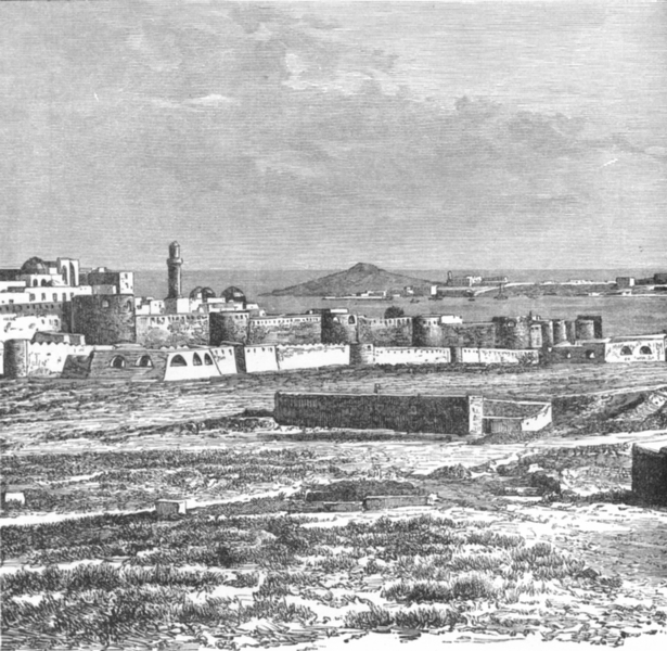 Associate Product AZERBAIJAN. Baku & Cape Bail-Burni c1885 old antique vintage print picture